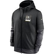 Nike Men's New Orleans Saints Sideline Lock Up Full-Zip Black Hoodie