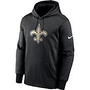 Nike Men's New Orleans Saints Sideline Therma-FIT Black Pullover Hoodie