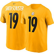 Nike Men's Pittsburgh Steelers JuJu Smith-Schuster #19 Logo Gold T-Shirt