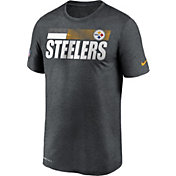 Nike Men's Pittsburgh Steelers Charcoal Heather Legend Sideline T-Shirt