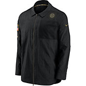 Nike Men's Salute to Service Pittsburgh Steelers Black Shirt Jacket