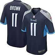 Nike Men's Tennessee Titans A.J. Brown #11 Navy Game Jersey