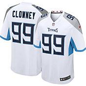 Nike Men's Tennessee Titans Jadeveon Clowney #99 Away White Game Jersey