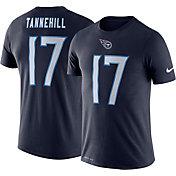Nike Men's Tennessee Titans Ryan Tannehill #17 Logo Navy T-Shirt