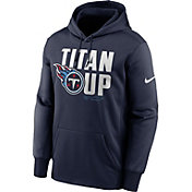 Nike Men's Tennessee Titans College Navy Therma Pullover Hoodie