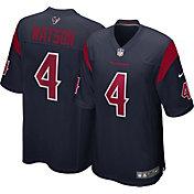 Nike Men's Houston Texans Deshaun Watson #4 Navy Game Jersey