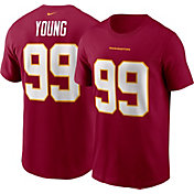 Nike Men's Washington Football Team Chase Young #99 Red Logo T-Shirt