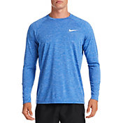 Nike Men's Heathered Long Sleeve Rash Guard