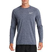 Nike Men's Heathered Long Sleeve Rash Guard