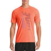 Nike Men's Heather Tilt Short Sleeve Rash Guard
