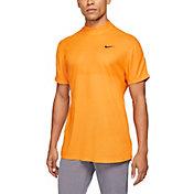 Nike Men's Tiger Woods Dri-FIT Mock Neck Short Sleeve Golf Polo