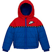 Nike Little Boys' Color Block Taping Full-Zip Puffer Jacket