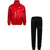 Nike Little Boys' Swoosh Evolution Tricot Full-Zip Jacket and Jogger Pants Set