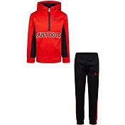 Nike Little Boys' Therma Fleece ½ Zip Hoodie and Jogger Pants Set