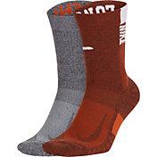 Nike Texas Longhorns Multi Crew Socks 2 Pack