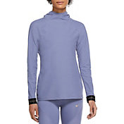 Nike Women's Pro Icon Clash Warm Hooded Long Sleeve Top