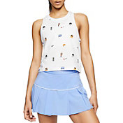 Nike Women's Court Cropped Allover Print Tennis Tank Top