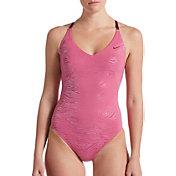 Nike Women's Geo Onyx Crossback One Piece Swimsuit