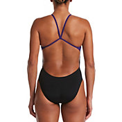 Nike Women's Hydrastrong Vex Colorblock Cutout One Piece Swimsuit