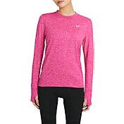 Nike Women's Element Crew Long Sleeve Running Shirt