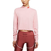 Nike Women's Sportswear Lipstick Cropped Long-Sleeve T-Shirt