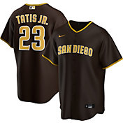 Nike Men's Replica San Diego Padres Fernando Tatis Jr. #23 Cool Base Brown Jersey