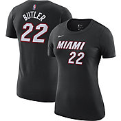 Jordan Women's Miami Heat Jimmy Butler #22 Statement Black T-Shirt