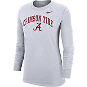 Nike Women's Alabama Crimson Tide Dri-FIT Cotton Long Sleeve White T-Shirt