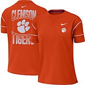 Nike Women's Clemson Tigers Orange Breathe Crew Neck T-Shirt