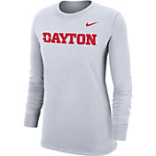 Nike Women's Dayton Flyers Dri-FIT Cotton Logo White T-Shirt