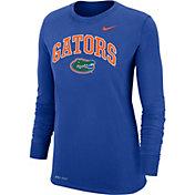 Nike Women's Florida Gators Blue Dri-FIT Cotton Long Sleeve T-Shirt