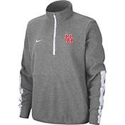 Nike Women's Houston Cougars Grey Microfleece Half-Zip Shirt