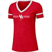 Nike Women's Houston Cougars Red V-Neck T-Shirt