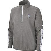 Nike Women's Kansas State Wildcats Grey Therma Half-Zip Fleece