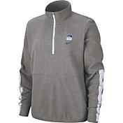 Nike Women's Kentucky Wildcats Grey Therma Half-Zip Fleece