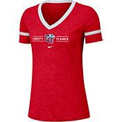 Nike Women's Liberty Flames Red V-Neck T-Shirt
