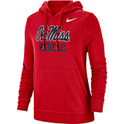 Nike Women's Ole Miss Rebels Red Club Fleece Pullover Hoodie
