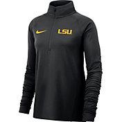 Nike Women's LSU Tigers Black Half-Zip  Shirt