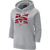Nike Women's Morehouse College Maroon Tigers Grey Varsity Pullover Hoodie