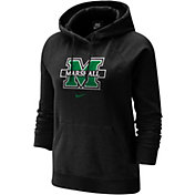 Nike Women's Marshall Thundering Herd Fleece Pullover Black Hoodie