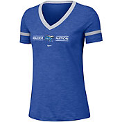 Nike Women's Middle Tennessee State Blue Raiders Blue V-Neck T-Shirt