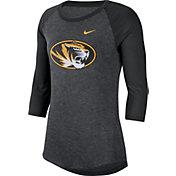 Nike Men's Missouri Tigers Grey Dri-FIT Raglan ¾ Sleeve T-Shirt