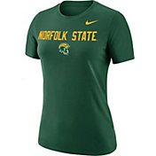 Nike Women's Norfolk State Spartans Green Dri-FIT Cotton Performance T-Shirt