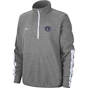 Nike Men's Villanova Wildcats Grey Microfleece Half-Zip Shirt