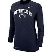 Nike Women's Penn State Nittany Lions Blue Dri-FIT Cotton Long Sleeve T-Shirt