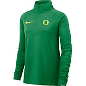 Nike Women's Oregon Ducks Green Half-Zip Shirt