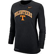 Nike Women's Tennessee Volunteers Dri-FIT Cotton Long Sleeve Black T-Shirt