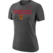 Nike Women's Tuskegee Golden Tigers Grey Dri-FIT Cotton Performance T-Shirt