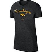 Nike Women's Iowa Hawkeyes Marled Crew Black T-Shirt
