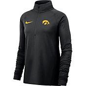 Nike Women's Iowa Hawkeyes Half-Zip Black Shirt
